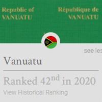 最新2020年瓦努阿图护照免签国家一览表