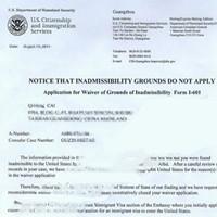 美国CR1婚姻签证豁免申请失败后起死回生终获通过